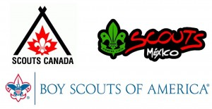 Scouts Canada BSA Scouts Mexico two lines depth